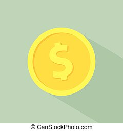 gold coin medal business market isolated with shadow
