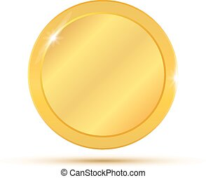 Gold coin. Vector illustration isol