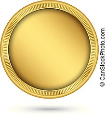 Gold coin, vector illustration