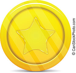 gold coin with star