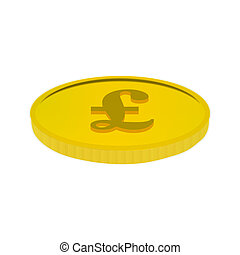 Gold coin with the pound sign