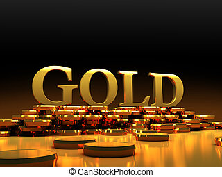 gold coins 3d image