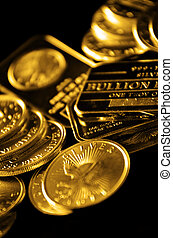Gold Coins and Bullion for Wealth - Gold coins and bullion...