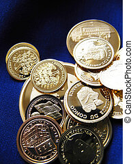 coins of pure gold - metaphorical business, luxury, wealth or currency image
