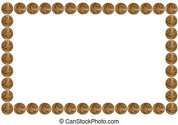 Gold coins frame