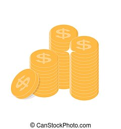 Gold Coins Icon Sign Business Finance Money Concept Vector Illustration