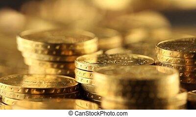 Gold coins, money