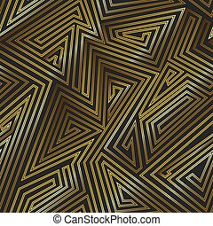 Gold color maze seamless pattern.