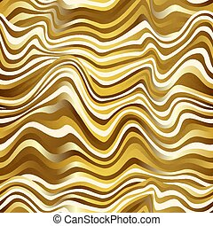 Gold color wave seamless pattern.