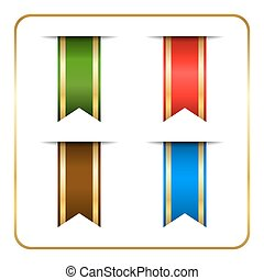 Gold colored bookmark banners