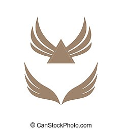 Gold colored wings icons