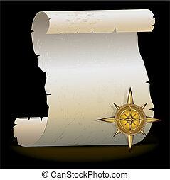 Gold compass