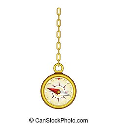gold compass hanging icon