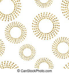Gold concentric circle seamless pattern