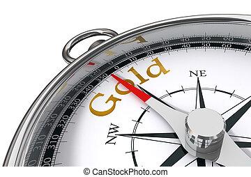 gold concept compass