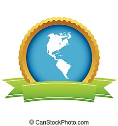 Gold continent America logo