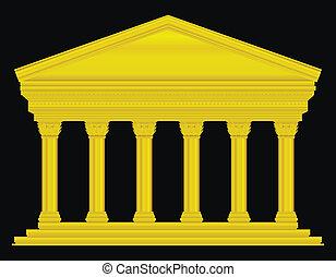 Gold corinthian temple