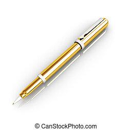 Gold corporate pen design