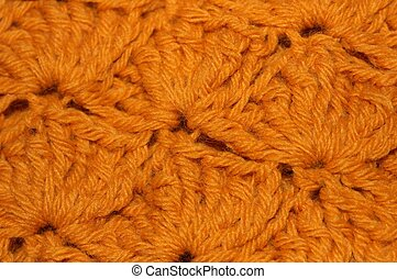 Gold Crochet Fabric Closeup