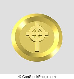 gold cross icon