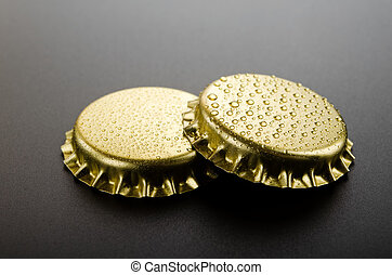 Gold crown caps