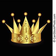 Gold crown icon logo