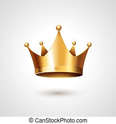 Gold Crown  Isolated On White Background