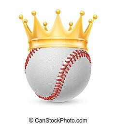 Gold crown on baseball