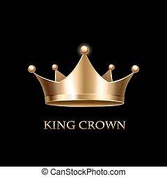 Gold Crown  on black