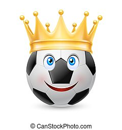 Gold crown on soccer ball