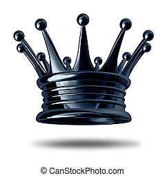 Gold crown representing royalty and wealth as an award...