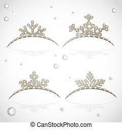 Gold Crown tiara snowflakes shaped for Christmas ball