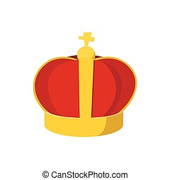 Gold crown with cartoon icon