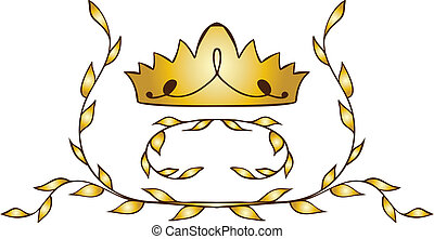 gold crown with laurels