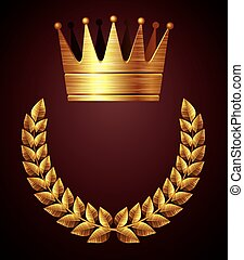 Gold crown with wreath