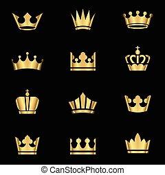 Gold Crowns Set