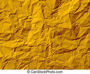 Gold Crumpled Paper Texture