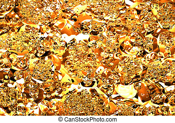 Gold crumpled