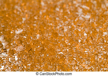 gold crystals background in perspective