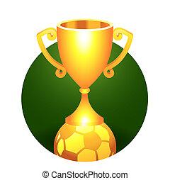gold csésze, hadizsákmány, labda, futball, labdarúgás