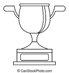 Gold cup icon, outline style