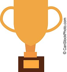 Gold cup trophy vector illustration.