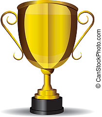 Vector illustration of a gold cup or trophy.