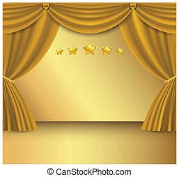Gold curtain