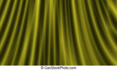 Gold curtain loop