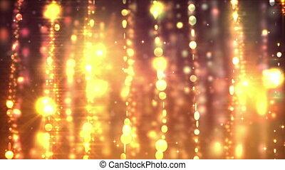 Gold curtains loop
