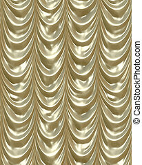 gold curtains - luxurious golden curtains draping down like ...
