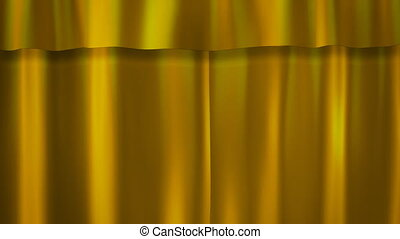 gold curtains stage