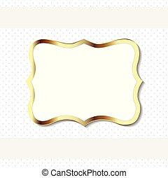 Gold decorative vintage frame element