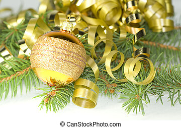gold, dekorative kugel